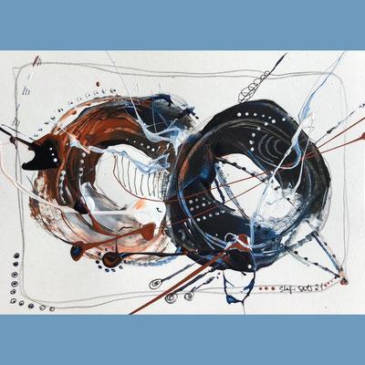 """Postkarte Serie """"Die dynamische Acht""""VERKAUFT"""
