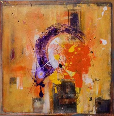 """Full of angels"" 80x80, mixed media auf Leinwand, 2015, sold"