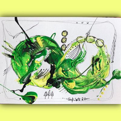 """Postkarte Serie """"Die dynamische Acht"""" VERKAUFT"""