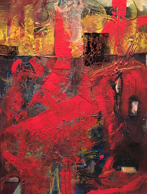 """Red one"" 60x80, Acryl auf Leinwand"