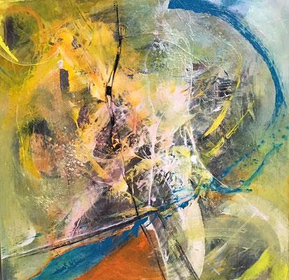 """""""Energy 12"""" mixed media auf Leinwand, 60x60"""
