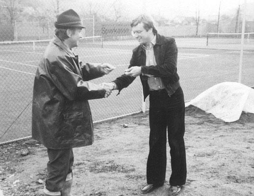 Paul Link (links) leitete 11 Jahre den Verein.