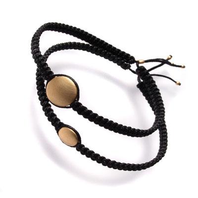 "Armband, Makramee, 750er ""Dots"""