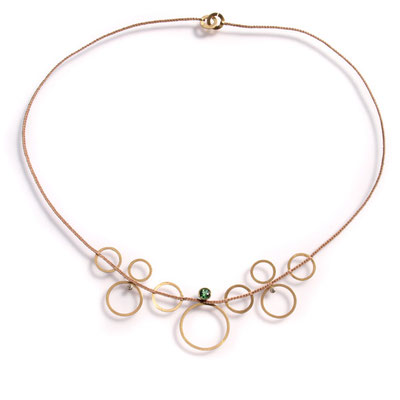 Collier,  750er Gold, Turmalin