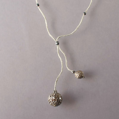 Collier, Silber, Diamanten