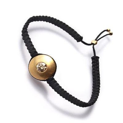 Armband, Makramee, 750er Gold, Diam Brillant