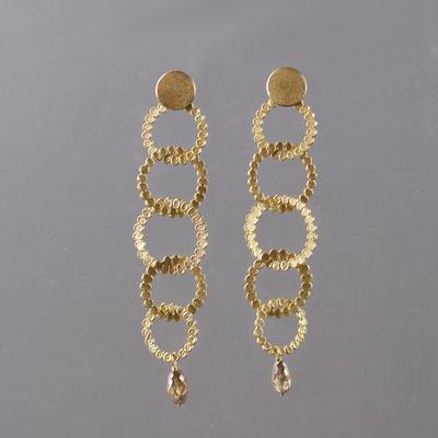 Ohrstecker/Hänger, 750er Gold, Diamanten