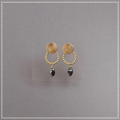 Ohrstecker, schwarze Diamanten, 750er Gold