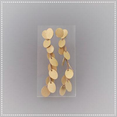 Ohrstecker, 750er Gold, hängende Plättchen zum Aushängen