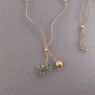 Collier, Saphire, 750er Gold