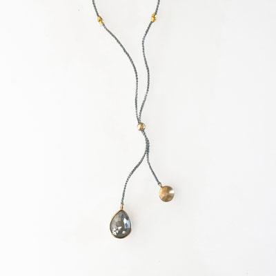 Collier, Diamanttropfen, 750er Gold
