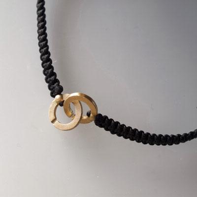 Armband, Makramee, 750er Gold