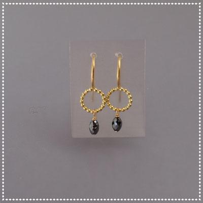 Ohrhänger, schwarze Diamanten