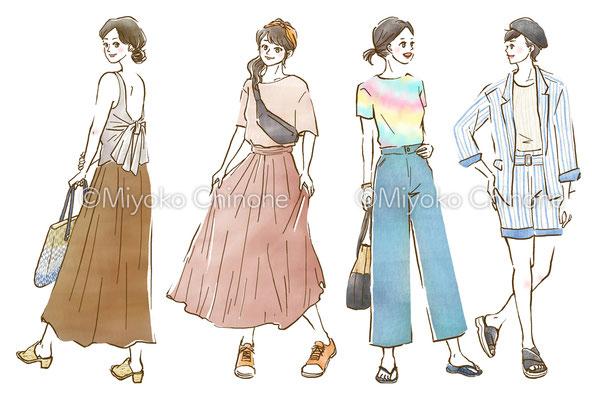 ホットペッパービューティー ウェブコラム ファッションコーディネートイラスト