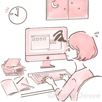 働く女性のイラスト