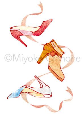 靴 パンプス イラスト