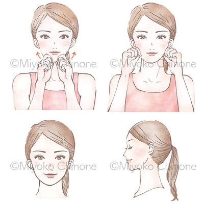 nanarobe 冊子「美肌の教科書」 イラスト