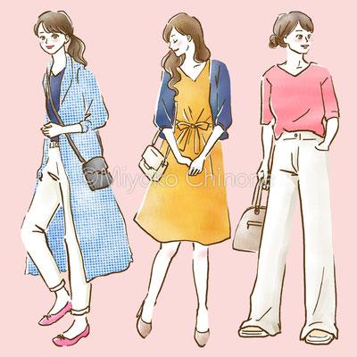 じゃらんニュース ウェブコラム ファッションコーディネートイラスト
