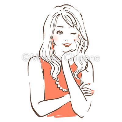 美容・ファッション 女性のイラスト