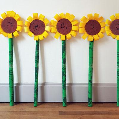 Atelier Création Décor : Tournesol géants (Travail sur Les tournesols de Van Gogh)
