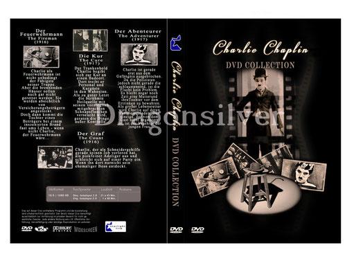 DVD Cover Arbeit für Laser Paradise Charlie Chaplin