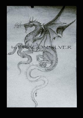 Drachen , Bleistift