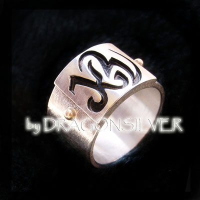 KW Ring - Gelbgold - Sterling Silber