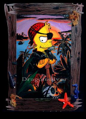Bart Simpson Blackbeard, Acryl auf Leinwand