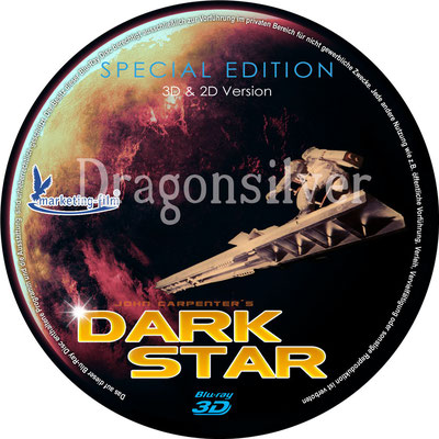 DVD Label Arbeit für Laser Paradise Dark Star 3 D Collection