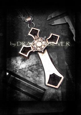 Heraldic Kreuz mit Königskette, massiv - Sterling Silber