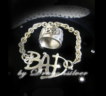 Michael Jackson Tribute Schmuck - Einzelstücke- Sterling Silber - Armband Bad