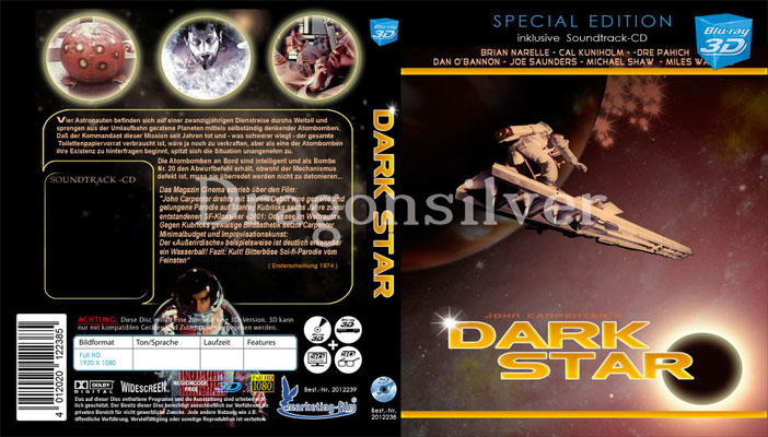 DVD Cover Arbeit für Laser Paradise Dark Star 3 D Collection