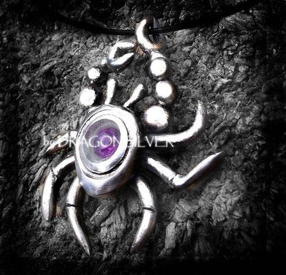 Sternzeichen Krebs - Sterling Silber - Amethyst