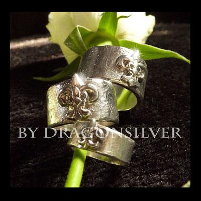 Eheringe Fleur des lis - Sterling Silber