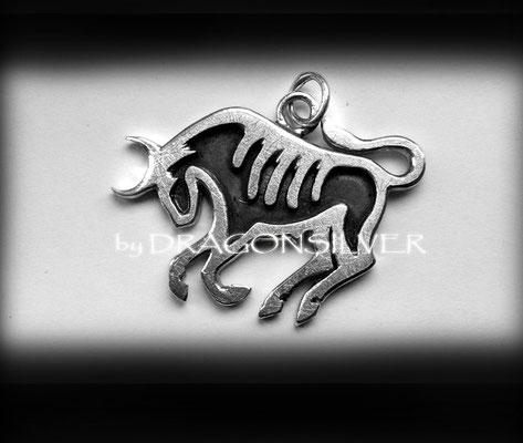 Taurus Kettenanhänger - Sterling Silber