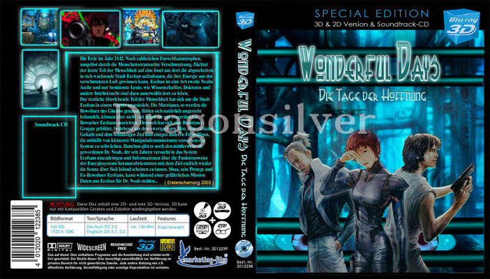 DVD Cover Arbeit für Laser Paradise Wonderful Days Collection