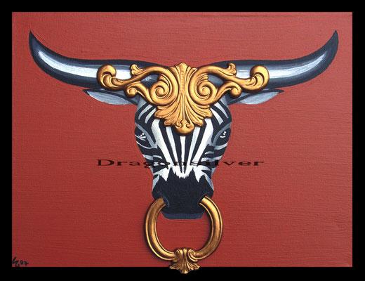 Stier, 30 x 40 cm Acryl auf Leinwand mit Relief
