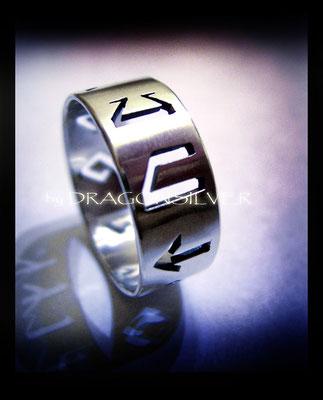 Runen Ring - Sterling Silber