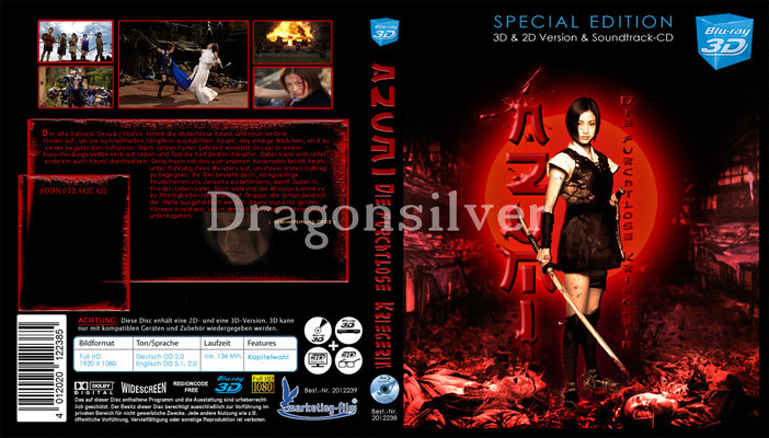 DVD Cover Arbeit für Laser Paradise Azumi Collection