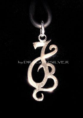 JB Anhänger - Sterling Silber