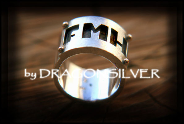 FMH  Ring - Gelbgold - Sterling Silber