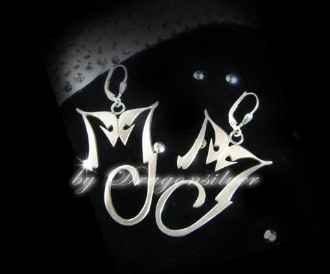 Michael Jackson Tribute Schmuck - Einzelstücke- Sterling Silber - Ohrringe History
