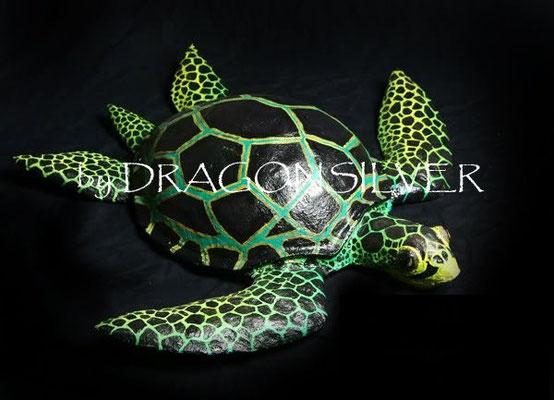 Meeres Schildkröte, Länge ca. 80 cm, Pappmachee