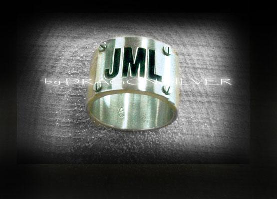 JML Ring - Sterling Silber - Edelstahl