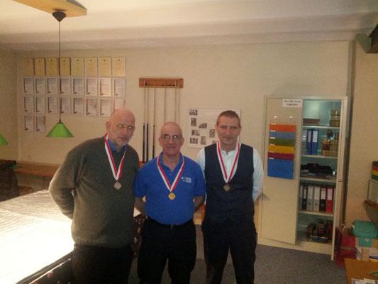 Die Medaillisten vlnr Dani V. (Silber), Fernando (Gold), Daniel Z. (Bronze)