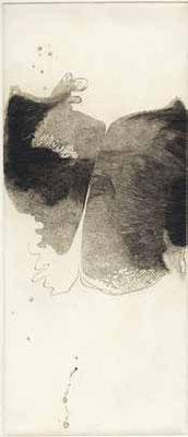 "Catherine GILLET ""Membrane des jours"" Burin - 36 x 15,5 cm"