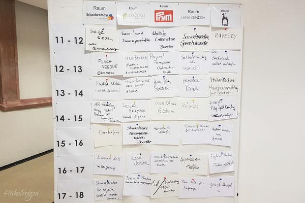 Der Sessionplan vom Samstag