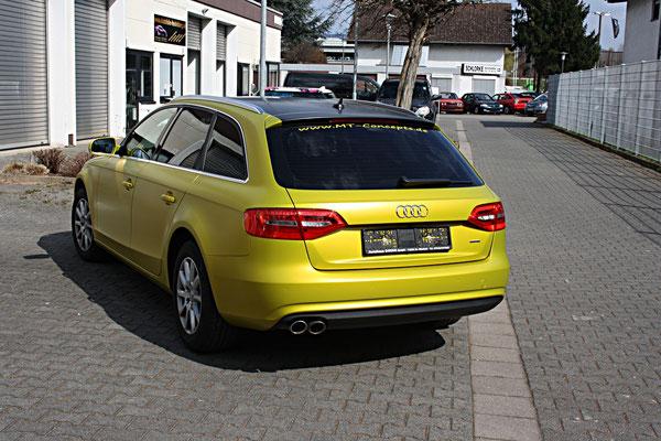 Audi Folierung Limette Gelb matt metallic - MT Concepts Eppelheim