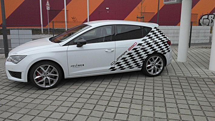 Seat Cupra Teilfolierung Rennflagge - MT Concepts Eppelheim