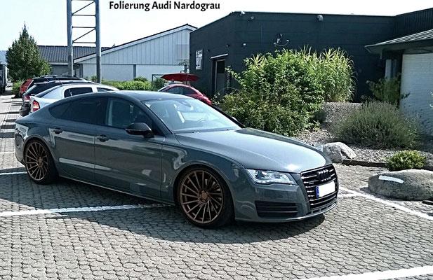 Audi Folierung Nardograu - MT Concepts Eppelheim